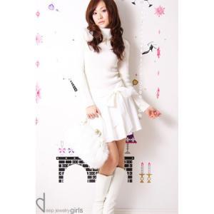 美白スタイルデート服♪愛されホワイトスカート☆ニットコーデセット|ayainc
