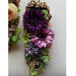 アートフラワードアノブ飾り「Amulette purple」 |ayanasu-hanakobo