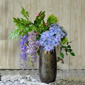 ブルーの爽やかなアーティフィシャルアレンジメント「Ciel bleu」大きいサイズ|ayanasu-hanakobo