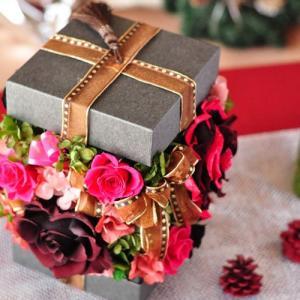 プリザーブドフラワーボックスアレンジメント「Rose ruban」|ayanasu-hanakobo