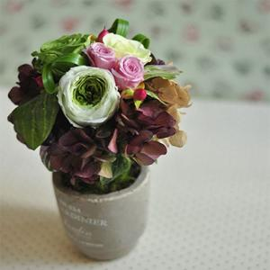 「Cherir beige」 プリザーブドフラワーアレンジメント トピアリーアレンジ|ayanasu-hanakobo