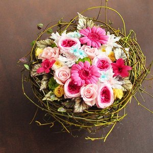 開店 開業 新築お祝い プリザーブドフラワーアレンジメント「Flora」 フローラ|ayanasu-hanakobo
