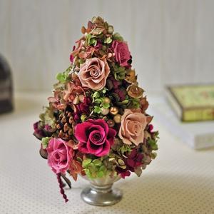 プリザーブドフラワーアレンジメント。シックな大人かわいいデザイン「Rose couleur」|ayanasu-hanakobo