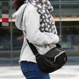 がま口ポケット付き斜め掛けショルダーバッグ Sarei コーデュラ(R)Eco Fabric 在庫商品 ayano-koji
