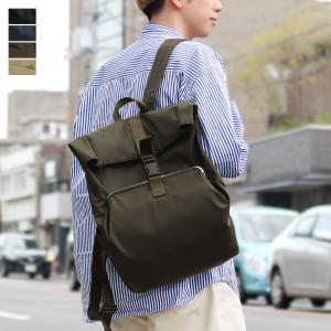 がま口 バッグ  がま口ポケット付きロールリュック Sarei 撥水ツイルナイロン|ayano-koji