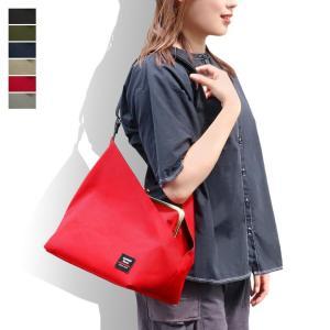 がま口スクエアワンショルダーバッグ Sarei コーデュラ(R)Eco Fabric 在庫商品 ayano-koji