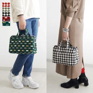 がま口 バッグ がま口手提げバッグ 帆布・バードチェック |がま口バッグ バッグ レディース  がま口 がまぐち ランチバッグ 布 通勤 あやの小路 受注生産品|ayano-koji