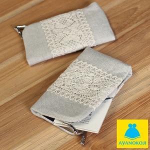 カードケース がま口  在庫商品 仕切り付きがま口カードケース リネン がまぐち かわいい 名刺入れ カードケース ポイントカード入れ 薄型 手作り 和雑貨|ayano-koji
