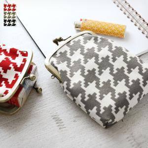 AYANOKOJI がま口  在庫商品 がま口シガレットケース 帆布・バードチェック  手作り iPhoneケース   可愛い かわいい がま口 メンズ    が|ayano-koji