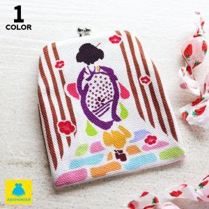 【在庫商品】 がま口  在庫商品 がまポチ袋 舞妓さん   ぽち袋 京都 ケース  プレゼント 女性 小銭入れ コインケース がまぐち ayano-koji
