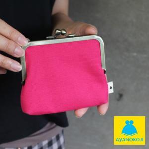 AYANOKOJI がま口 平親子がま口財布(マチ有り) 帆布・無地 財布 サイフ がま口 カードケース がま口財布  コインケース 春財布  在庫商品|ayano-koji