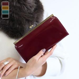 がま口 財布  外がま口長財布 メタリックエナメル   在庫商品|ayano-koji