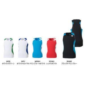 SALE  デサント  <TRACK&FIELD/RACE WEAR> ランニングシャツ  DRN-4702-RDWH(レッド×ホワイト/Lサイズ)|ayksports