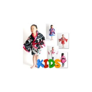 和柄 ドレス待望のKIDS130cm サイズ登場 親子でおそろいペア cwa07-k 0301着物風ミニ(孔雀)和柄    よさこい 和柄 和柄