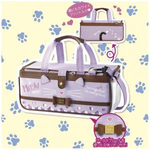 新作 絵の具バッグのみ(専用筆洗付き)水彩絵のバッグ 子供 小学生 女の子用 人気  ドリミーキャット ニャンコ型ボックスタイプ ayumu-kyouzai