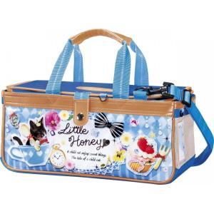 新作,絵の具バッグのみ(専用筆洗付き)水彩絵のバッグ,子供,小学生,女の子用,人気,リトルハニー,かわいいコラージュ柄|ayumu-kyouzai