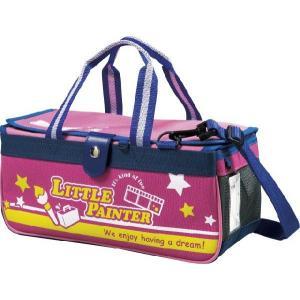 絵の具バッグのみ(専用筆洗付き)水彩絵のバッグ,子供,小学生,女の子用,人気,パクトLPピンク,コンパクトなボックスタイプ|ayumu-kyouzai