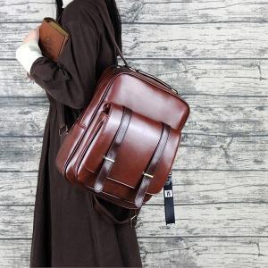 リュック レディース リュックサック レザーリュック レザー リュック バッグ 革 レザーバッグ マザーズ アウトドア おしゃれ かわいい 大容量 通学 通勤 旅行|ayusutoa