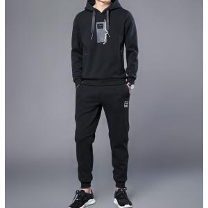 2019秋冬新作メンズ長袖Tシャツの2点セット吸汗速乾半袖Tシャツ ジムトレーニングウェア ランニン...