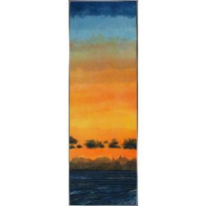 和紙アートフレーム/落日/絵画 壁掛け 壁飾り インテリア 油絵 花 アートパネル ポスター 絵 額入り リビング 玄関|ayuwara