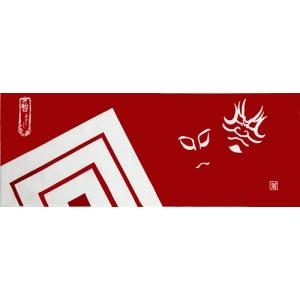 絵てぬぐい 絵画 隈取・暫・歌舞伎/手ぬぐい 手拭い タオル インテリア 伝統工芸 外国人 海外 ギフト プレゼント アート 和雑貨|ayuwara