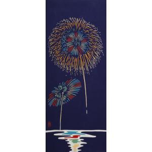 絵てぬぐい 絵画 花火 メール便/手ぬぐい 手拭い タオル インテリア 伝統工芸 外国人 海外 ギフト プレゼント アート 和雑貨|ayuwara