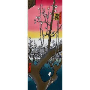 絵てぬぐい 絵画 亀戸梅屋敷(かめいどうめやしき) メール便/手ぬぐい 手拭い タオル インテリア 伝統工芸 外国人 海外 ギフト プレゼント アート 和雑貨|ayuwara
