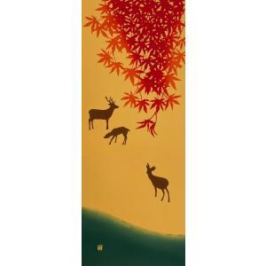 絵てぬぐい 絵画 日本の秋 メール便/手ぬぐい 手拭い タオル インテリア 伝統工芸 外国人 海外 ギフト プレゼント アート 和雑貨|ayuwara