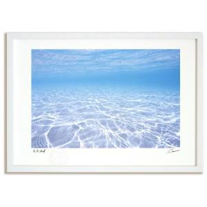アートフォト 絵画 壁掛け ニューカレドニア 透明な海 海 額入り 絵画 絵 壁掛け アート インテリア壁飾り 癒やし プレゼント ギフト アートパネル ポスター|ayuwara