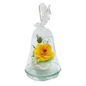 ボトルフラワー/120/ハンドベル葡萄/イエロー/ドライフラワー 花 天然色 おしゃれ 枯れない 飾り 華やか 高級 誕生日 祝い ギフト 母 祖母 ayuwara