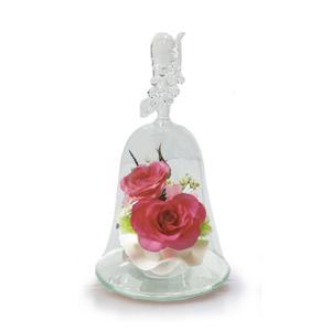 ボトルフラワー/ハンドベル葡萄2輪挿し/ローズピンク/ドライフラワー 花 天然色 おしゃれ 枯れない 飾り 華やか 高級 誕生日 祝い ギフト 母 祖母 ayuwara