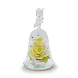 ボトルフラワー/ハンドベル葡萄2輪挿し/ホワイト/ドライフラワー 花 天然色 おしゃれ 枯れない 飾り 華やか 高級 誕生日 祝い ギフト 母 祖母 ayuwara