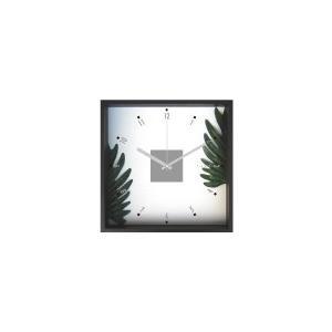掛時計/Philodendron cv. kookaburra (フィロデンドロン クッカバラ)/ウォールクロック インテリア 壁掛け ギフト プレゼント 新築祝い おしゃれ アート|ayuwara