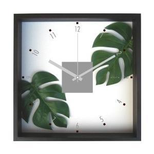 掛時計/Monstera deliciosa (モンステラ デリシオサ)/ウォールクロック インテリア 壁掛け ギフト プレゼント 新築祝い おしゃれ アート|ayuwara