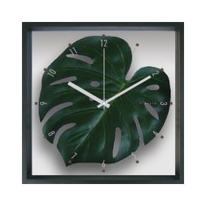 掛時計/Monstera deliciosa / Green(モンステラ デリシオサ/緑)/ウォールクロック インテリア 壁掛け ギフト プレゼント 新築祝い おしゃれ アート|ayuwara