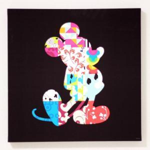 キャンバスアート ディズニー キャンバスパネル 50角 パッチワーク2/絵画 壁掛け 壁飾り インテリア 油絵 花 アートパネル ポスター 絵 額入り リビング 玄関|ayuwara