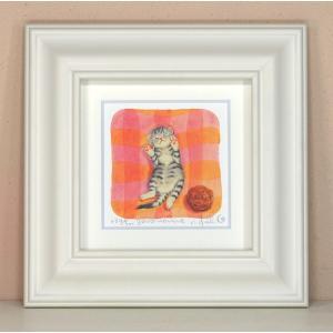 絵画 壁飾り/goro nenne/猫 ネコ ねこ 栗乃木ハルミ・くりのきはるみ/絵画 壁掛け 壁飾り インテリア 油絵 花 アートパネル ポスター 絵 額入り リビング 玄関|ayuwara