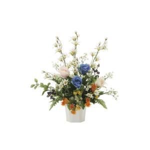アートフラワー 造花 サファイヤロ―ズ テーブルタイプ/光触媒 観葉植物 フェイクグリーン 花 開店祝い 開業祝い 誕生祝い 造花 おしゃれ|ayuwara