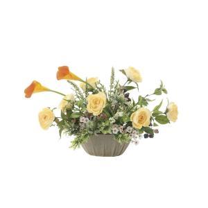 アートフラワー 造花 エミリ―カラ― テーブルタイプ/光触媒 観葉植物 フェイクグリーン 花 開店祝い 開業祝い 誕生祝い 造花 おしゃれ|ayuwara