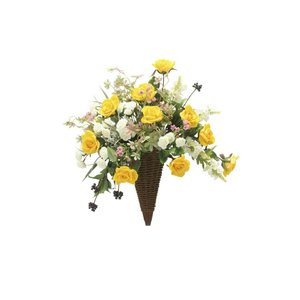 アートフラワー 造花 シャインゴ―ルド 壁掛けタイプ/光触媒 観葉植物 フェイクグリーン 花 開店祝い 開業祝い 誕生祝い 造花 おしゃれ|ayuwara