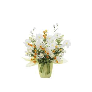 アートフラワー 造花 メロ―ホワイト テーブルタイプ/光触媒 観葉植物 フェイクグリーン 花 開店祝い 開業祝い 誕生祝い 造花 おしゃれ|ayuwara