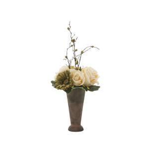アートフラワー 造花 ア―スカラ―ロ―ズ ミニタイプ/光触媒 観葉植物 フェイクグリーン 花 開店祝い 開業祝い 誕生祝い 造花 おしゃれ|ayuwara