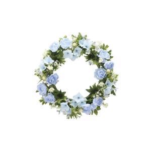 アートフラワー 造花 ロ―ズリ―スBL 壁掛けタイプ/光触媒 観葉植物 フェイクグリーン 花 開店祝い 開業祝い 誕生祝い 造花 おしゃれ|ayuwara