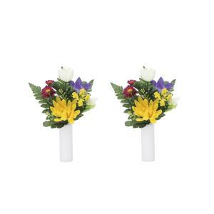 アートフラワー 造花 上仏花小2個セット ミニタイプ 光触媒 フェイクグリーン 御祝 内装 インテリア|ayuwara