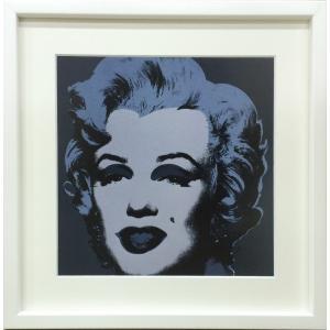 アートフレーム Andy Warhol  Marilyn Monroe (Marilyn), 1967 (black)/絵画 壁掛け 壁飾り インテリア 油絵 花 アートパネル ポスター 絵 額入り リビング 玄関|ayuwara