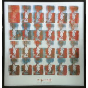 アートフレーム Andy Warhol  Statue of Liberty, 1963/絵画 壁掛け 壁飾り インテリア 油絵 花 アートパネル ポスター 絵 額入り リビング 玄関|ayuwara