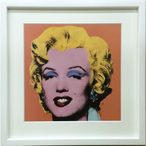 アートフレーム Andy Warhol  Shot Orange Marilyn,1964/絵画 壁掛け 壁飾り インテリア 油絵 花 アートパネル ポスター 絵 額入り リビング 玄関|ayuwara