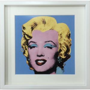 アートフレーム Andy Warhol  Shot Blue Marilyn,1964/絵画 壁掛け 壁飾り インテリア 油絵 花 アートパネル ポスター 絵 額入り リビング 玄関|ayuwara