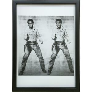 アートフレーム Andy Warhol  Double Elvis, 1963/絵画 壁掛け 壁飾り インテリア 油絵 花 アートパネル ポスター 絵 額入り リビング 玄関|ayuwara