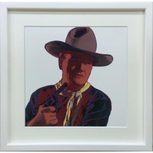 アートフレーム Andy Warhol  John Wayne, 1986/絵画 壁掛け 壁飾り インテリア 油絵 花 アートパネル ポスター 絵 額入り リビング 玄関|ayuwara